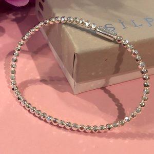 Silpada 'Charlotte' Stretch Sterling Bracelet